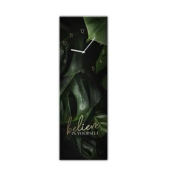 Ceas de perete Styler Glassclock Believe, 20 x 60 cm bonami.ro