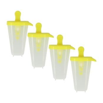 Set 4 forme pentru înghețată Metaltex Lollies, galben poza bonami.ro