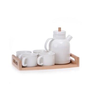 Set din porțelan cu tavă din bambus pentru ceai Jordan bonami.ro