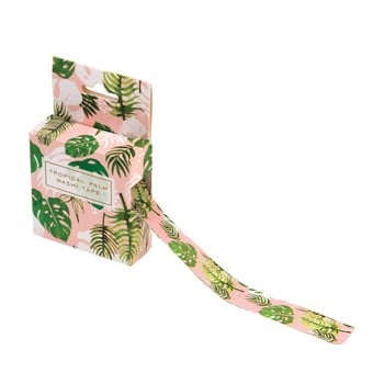 Bandă adezivă decorativă washi Rex London Tropical Palm bonami.ro