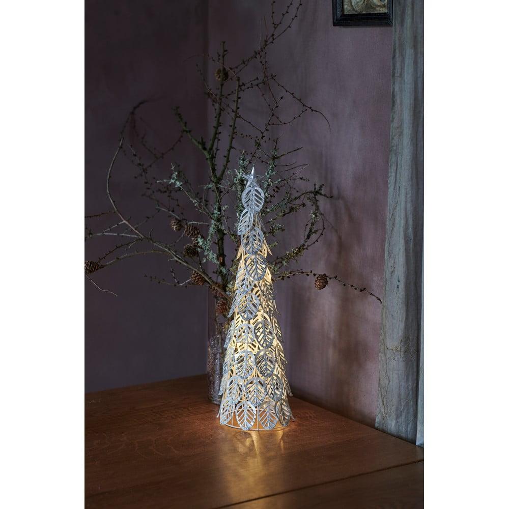 Decorațiune cu lumină LED Sirius Kirstine Silver, înălțime 53,5 cm