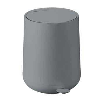 Coș de gunoi cu pedală Zone Nova, 5 l, gri poza bonami.ro