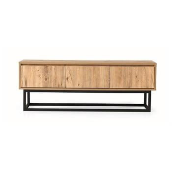 Comodă TV cu aspect de lemn de pin Kalune Design Tilsim, lungime 140 cm, natural poza bonami.ro