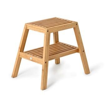 Scaun din lemn de bambus Wireworks Slatted Stool imagine