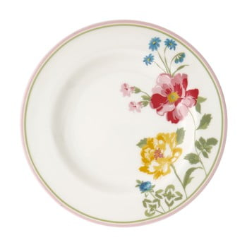 Farfurie din gresie ceramică cu motive florale Green Gate Thilde,ø 15cm, alb bonami.ro