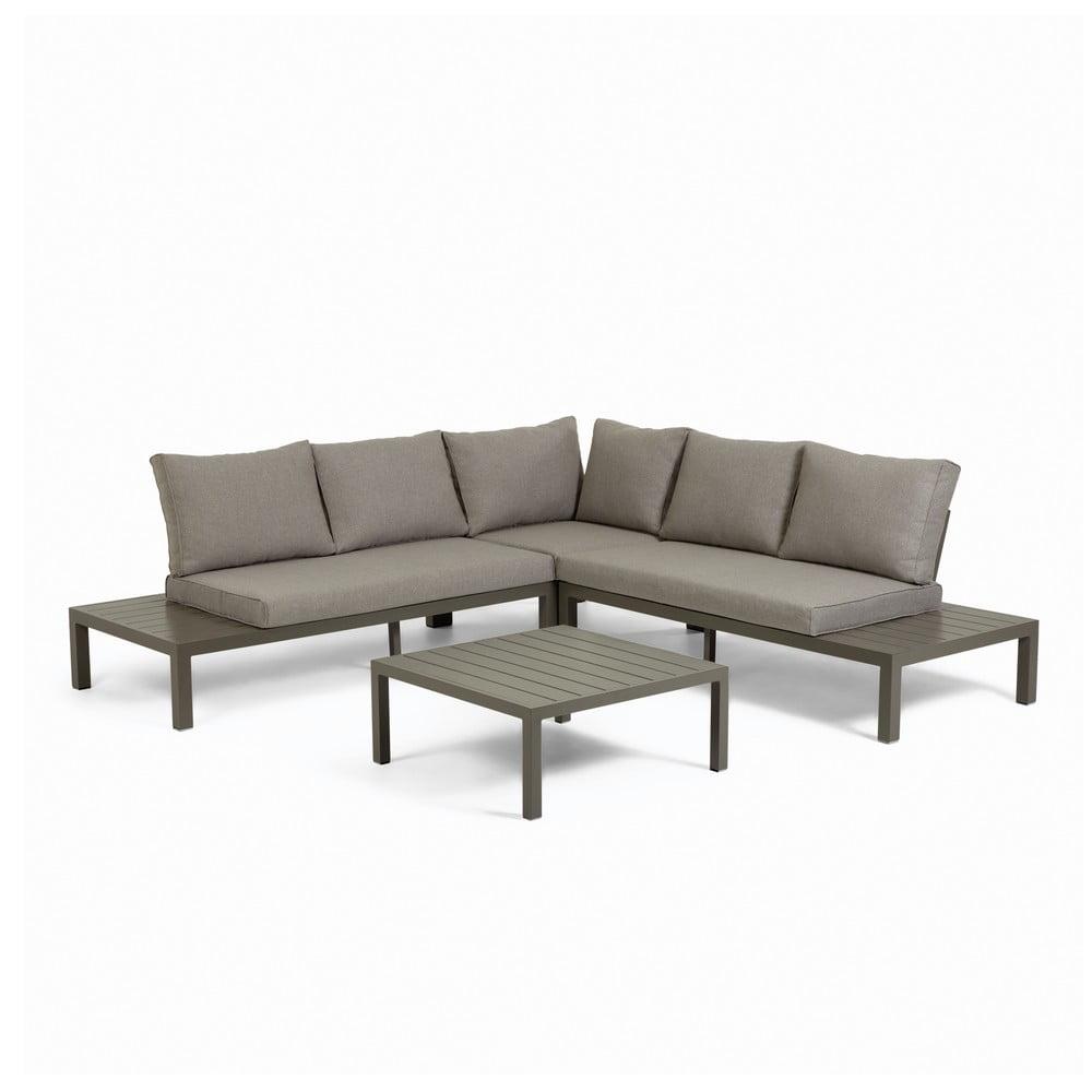 Set mobilier modular de gradina cu structura din aluminiu La Forma Duka, maro