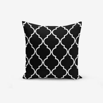 Față de pernă cu amestec din bumbac Minimalist Cushion Covers Black Background Ogea, 45 x 45 cm, negru - alb bonami.ro