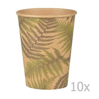Set 10 pahare mari de unică folosință, Esschert Design Farma bonami.ro