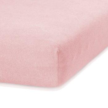 Cearceaf elastic AmeliaHome Ruby, 200 x 140-160 cm, roz deschis poza bonami.ro