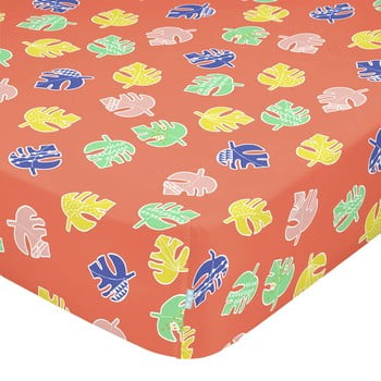 Cearșaf din bumbac pentru copii Moshi Moshi Geo Jungle,90 x 200 cm bonami.ro