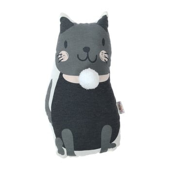 Pernă decorativă Mike & Co. NEW YORK Pillow Toy Black Cat, 17 x 34 cm bonami.ro