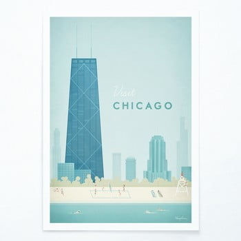 Poster Travelposter Chicago, A2 bonami.ro