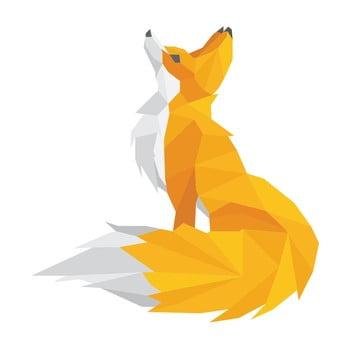 Autocolant Ambiance Origami Foxie bonami.ro