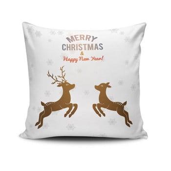 Pernă Reindeeers Jumping, 45x45 cm poza bonami.ro