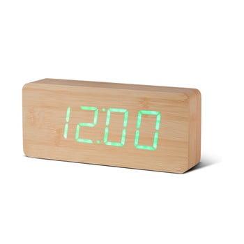 Ceas deșteptător cu LED Gingko Slab Click Clock, maro - verde bonami.ro