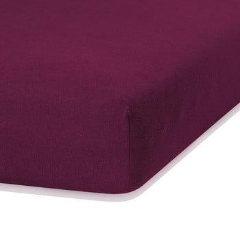 Cearceaf elastic AmeliaHome Ruby, 200 x 160-180 cm, violet bonami.ro