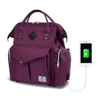 Rucsac maternitate cu port USB My Valice HAPPY MOM Baby Care, mov bonami.ro