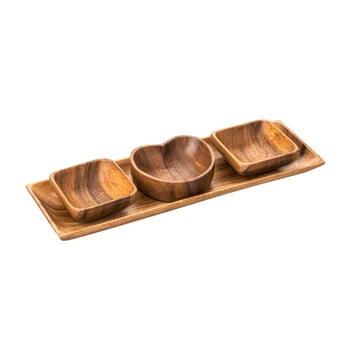 Set boluri cu tavă din lemn de salcâm Premier Housewares Acacia bonami.ro