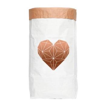 Sac depozitare din hârtie reciclată Really Nice Things Most Heart poza bonami.ro