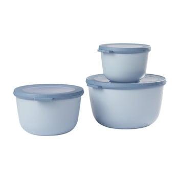 Set 3 cutii pentru gustări Rosti Mepal Cirqula Nordic, albastru poza bonami.ro