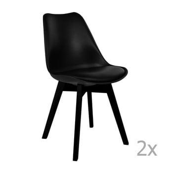 Set 2 scaune House Nordic Viborg, negru bonami.ro
