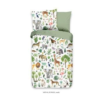 Lenjerie de pat din bumbac pentru copii Good Morning Jungle, 120 x 150 cm poza bonami.ro