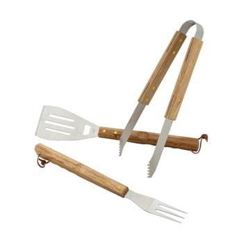 Set 3 ustensile pentru grătar Cattara Wood bonami.ro