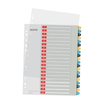 Set 5 registre numerice cu 20 etichete Leitz, A4 bonami.ro