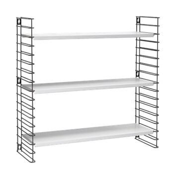 Etajeră cu 3 rafturi Metaltex Libro, alb-negru bonami.ro