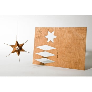 Carte poștală din lemn Formes Berlin Hvězda, 14,8 x 10,5 cm poza bonami.ro