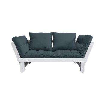 Canapea extensibilă Karup Design Beat White, albastru petrol imagine