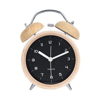 Ceas alarmă cu aspect de lemn Karlsson Classic Bell, ⌀ 10 cm bonami.ro