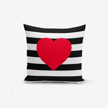 Față de pernă Minimalist Cushion Covers Navy Heart, 45x45cm poza bonami.ro