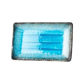 Farfurie servire din ceramică MIJ Sky, 21x13,5cm, albastru poza bonami.ro