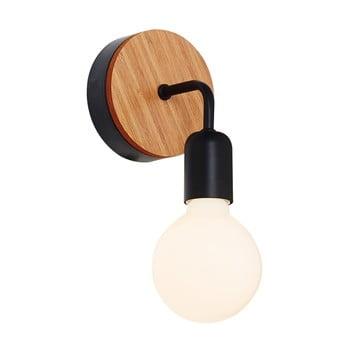 Aplică cu detalii din lemn Homemania Valetta, negru bonami.ro