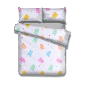 Lenjerie de pat din bumbac pentru copii AmeliaHome Candy Bears, 135 x 200 cm bonami.ro