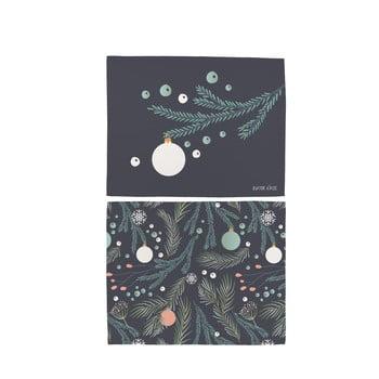 Set 2 șervețele din bumbac cu motive de Crăciun Butter Kings Christmas Deco, 45 x 35 cm poza bonami.ro