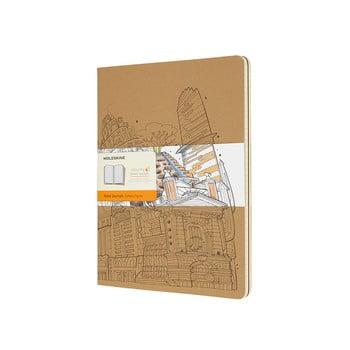 Caiet Moleskine Cahier, 192 pag., hârtie dictando, maro bonami.ro