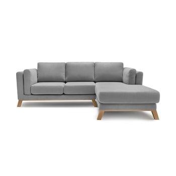 Canapea cu șezlong pe partea dreaptă Bobochic Paris Seattle, gri imagine
