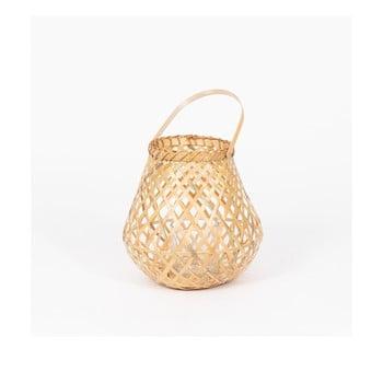 Felinar din bambus Compactor Bamboo Lantern, ⌀ 25 cm, natural bonami.ro