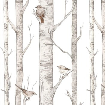 Tapet cu model cu mesteceni Dekornik Scandinavian Birch bonami.ro