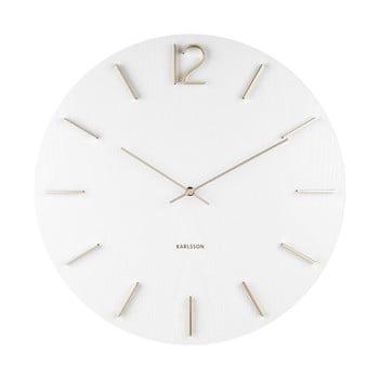 Ceas de perete Karlsson Meek, ⌀ 50 cm, alb imagine