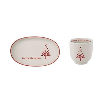 Set cană și farfurie din gresie ceramică Bloomingville Lucia bonami.ro
