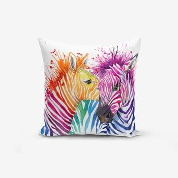 Față de pernă din amestec de bumbac Minimalist Cushion Covers Colorful Zebras , 45 x 45 cm bonami.ro