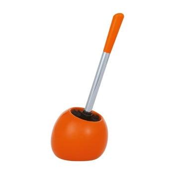 Perie pentru toaletă Wenko Polaris Orange, portocaliu poza bonami.ro