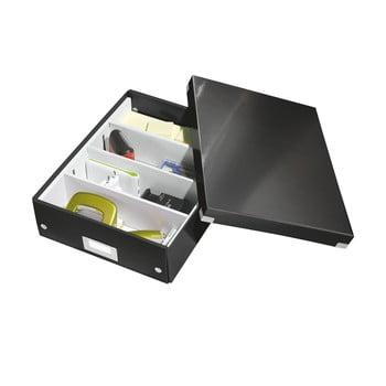 Cutie cu organizator Leitz Office, lungime 37 cm, negru bonami.ro