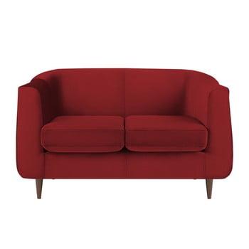 Canapea cu tapițerie din catifea Kooko Home GLAM, roșu, 125 cm bonami.ro