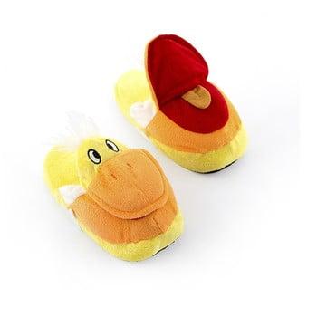 Papuci pentru copii InnovaGoods Fluffy Slippers Duck, mărime M poza bonami.ro