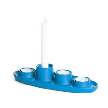 Sfeșnic EMKO Aye Aye Four Candle, albastru poza bonami.ro