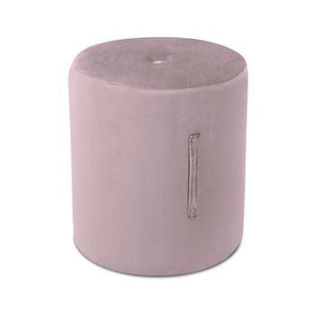 Puf Mazzini Sofas Fiore, ⌀ 40 cm, roz poza bonami.ro